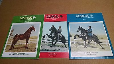 Vintage 1982  Voice of The Tennessee Walking Horse  Magazine