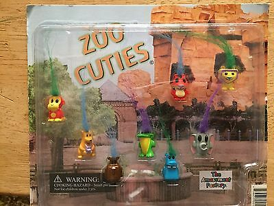 Zoo Cuties Troll Looking Type Animals 8 Small Figures Vending Machine Toy