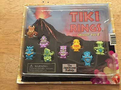 Tiki Rings Summer Beach Party 8 Rings Vending Machine Toy