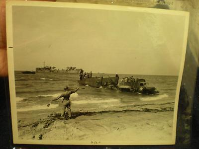 """Original WWII Official US Navy Photo 1943 Landing North Africa 8"""" x 10"""""""