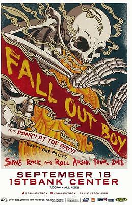 Fall Out Boy Panic At The Disco Broomfield 2013 Colorado Concert Poster 1St Bank