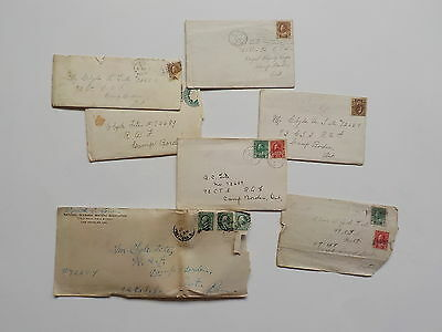 7 WWI Letters Royal Canadian Air Force Camp Borden Ontario Canada WW1 R.A.F. War