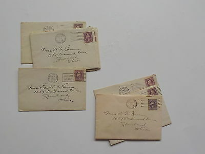 8 WWI Letters Soldier Chillicothe Ohio WW1 Cleveland Lot World War One VTG Army