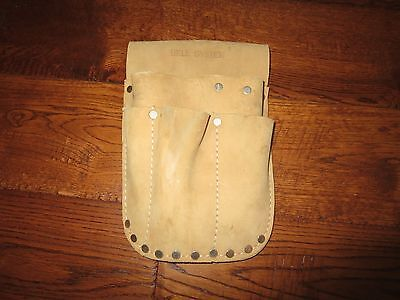 Vintage Bell System Telephone Installer Lineman Leather Riveted Tool Pouch