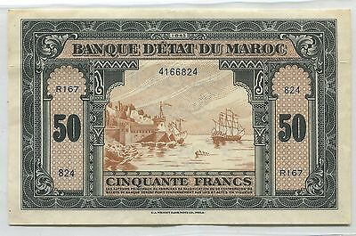 Morocco 50 Francs 1944  Note   UNUSED -- WE COMBINE SHIPPNG