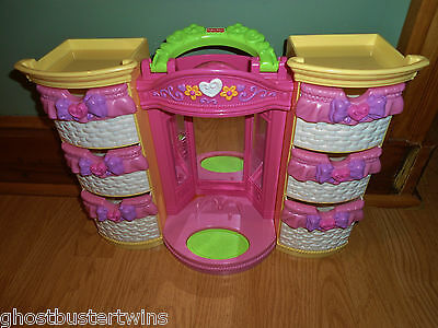 FISHER PRICE FASHION SNAP n STYLE LIGHT STORAGE BOX DOLL CASE OUTFIT CLOTHES LOT