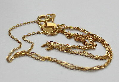 18k solid yellow gold necklace 45cm