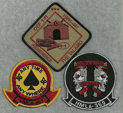 3 Different US Navy / US Marine Corps Aviation Patches