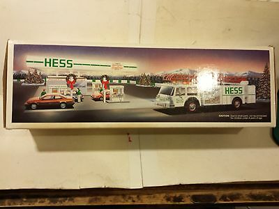 Hess 1989 Toy Firetruck Truck Bank Working Head and Tail Lights   +4