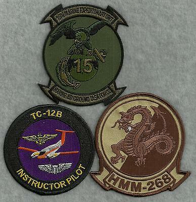 3 Different US Navy / US Marine Corps Aviation Patches #8