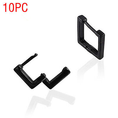 10PC Cool Black square Earrings wholesale FREE SHIPPING EH120