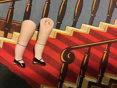 Antique Replica Parts Miniature All Bisque Pink Doll Legs 2""