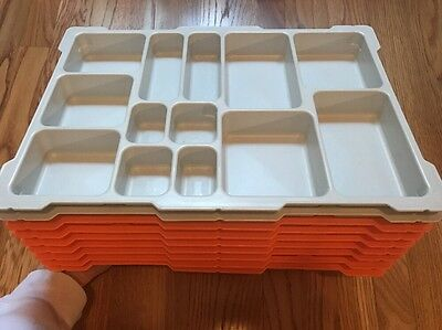 Lot Of 9 LEGO Mindstorms 9797 Plastic Insert Sorting Trays