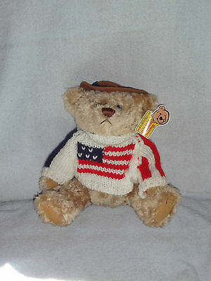Brass Button Bear Legendary Collection Clay Patriotic Plush Stuffed Toy