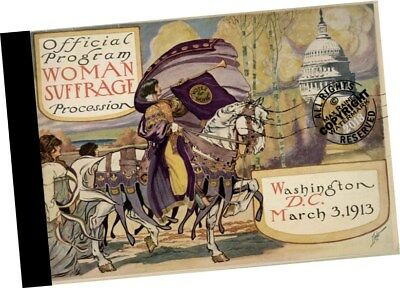 Harriet Brown OFFICIAL PROGRAM Woman SUFFRAGE PROCESSION 1913 right to vote