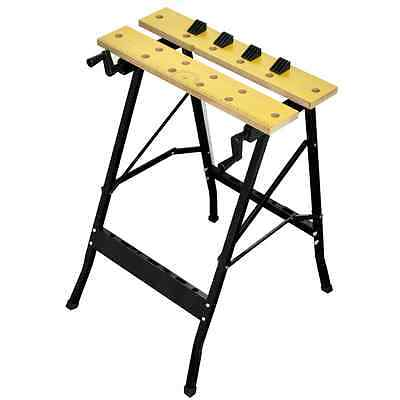 S# New Foldable Workbench Saw Horse Trestle Work Bench Stand MDF Adjustable Angl