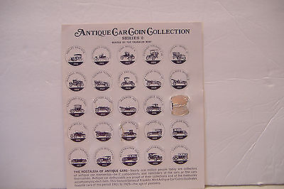 ~ Sunoco Antique Car Coin Collection~Series 2~1 Of 25 Coins~With Holder~