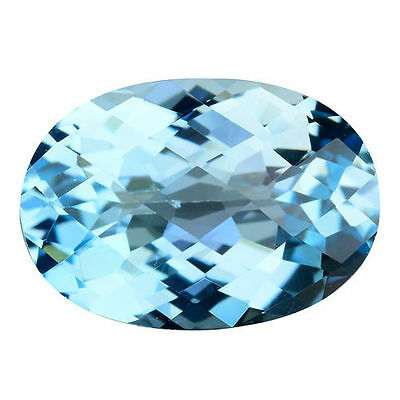6.910Cts Amazing Formidable Top Luster Blue Natural Topaz Oval Loose Gemstones