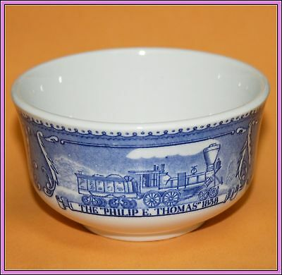 Vintage Antique B&O Railroad Train Shenango China Custard Cup Baltimore & Ohio G