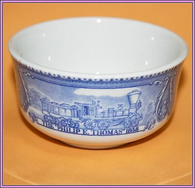 Vintage Antique B&O Railroad Train Shenango China Custard Cup Baltimore & Ohio H