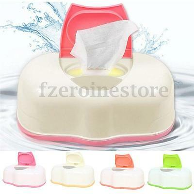 Dry & Wet Tissue Paper Box Baby Wipes Storage Case Holder Container Button Open