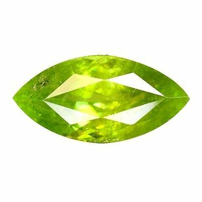 4.305Cts Attractive Super Luster  Green Natural Sphene Marquise Loose Gemstones