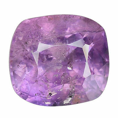 2.915 Cts  Extrmely Unheated Untreated Purple Pink Natural Sapphire Cushion