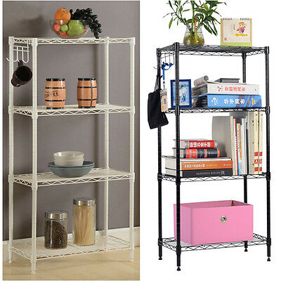 4-Tier Storage Rack Organizer Home Kitchen Shelving Steel Wire Shelves US Seller