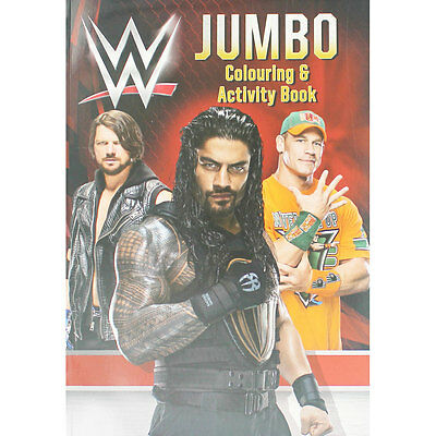 WWE Jumbo Colouring and Activity Book (Paperback), Children's Books, Brand New