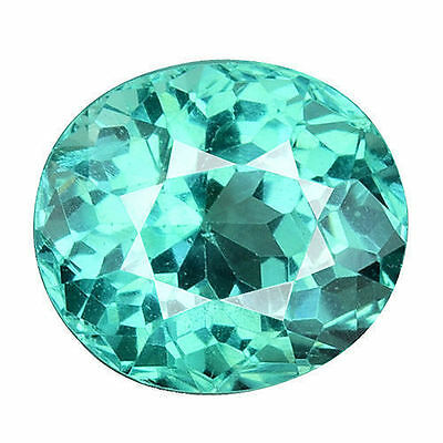 1.280 Cts Superior Sparkling Blue Green Natural Apatite Oval Loose Gemstones