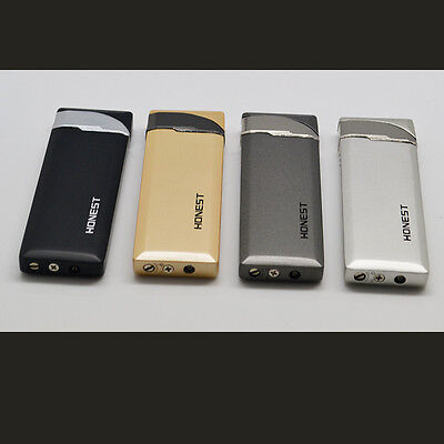 Honest 4PCS Ultra Thin Torch Cigarette Lighter Butane Gas Jet Pipe Cigar Lighter