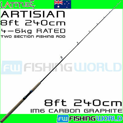 LATITUDE ARTISIAN 240 8ft 4-6kg IM6 CARBON 2 SECTION SPINNING FISHING ROD