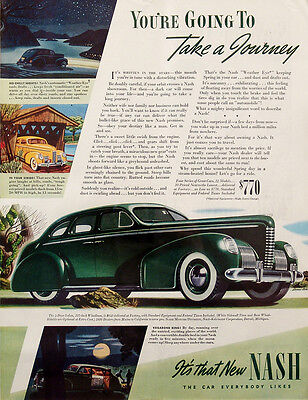 1939 Nash Automobile Car Vintage Magazine Ad