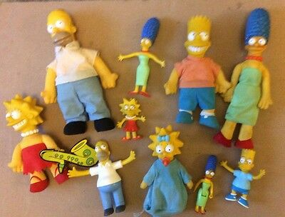 simpson figures vintage  10 figures collectable homer simpson bart marge