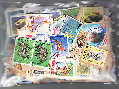 MALAYSIA Commemoratives on 70gms on-paper KILOWARE. Start at US$3.00