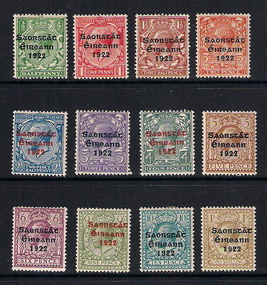 Ireland mint stamps - 1922/23 Irish Free State Overprinted, SG52/63, mainly MM