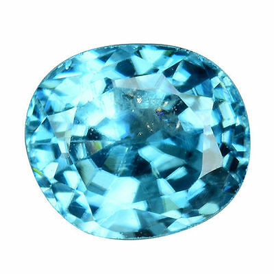 1.450Cts Gorgeous Amazing Blue Natural Zircon Oval Loose Gemstones