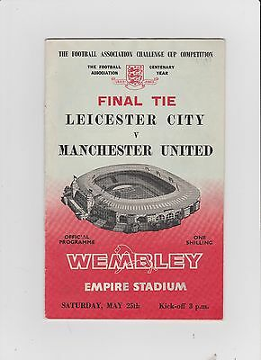 1963 F.A.Cup Final.Leicester City v Manchester United.