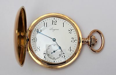 LONGINES vintage original pocket watch 18K yellow gold 53mm. (Great condition)
