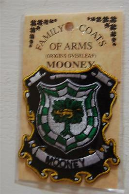 MOONEY Embroidered PATCH Coat of Arms Family Crest - Sew or Iron On