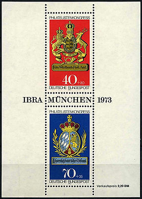 West Germany 1973 SG#MS1660 IBRA Stamp Exhibition MNH M/S Sheet #D41603
