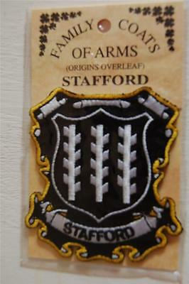 STAFFORD Embroidered PATCH Coat of Arms Family Crest - Sew or Iron On