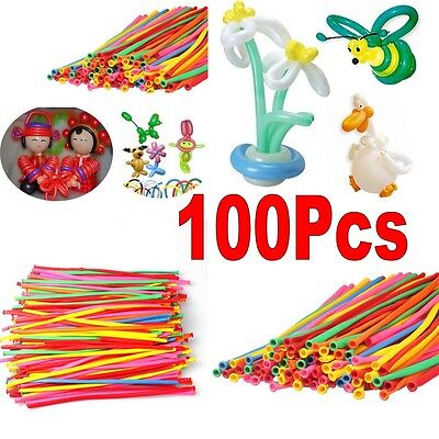 100X Party Wedding Supplies Balloon Candy Color Latex 260Q Traditional Modelling