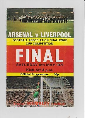 1971 F.A.Cup Final.Arsenal v Liverpool.