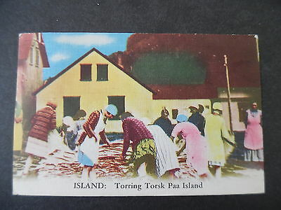 1949 Iceland Native Scene Postcard Used to US