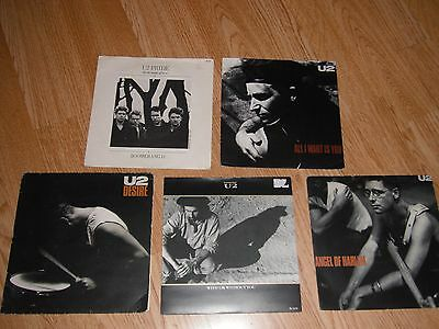 "U2 - COLLECTION OF 5 x 7"" SINGLES PICTURE SLEEVES EXC"