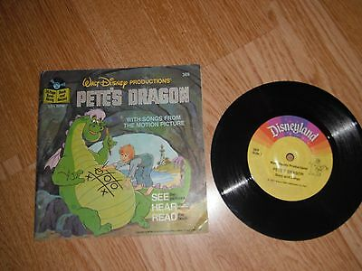 "Walt Disney Pete's Dragon With Songs From The Film 7"" Single 1977 Exc"