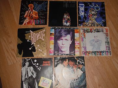 "DAVID BOWIE COLLECTION OF 8 x 7"" IN PICTURE SLEEVES EXC"