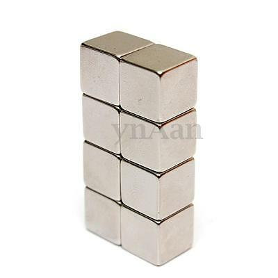 5/10pc N50 Square Cube Block Super Strong Neodymium Rare Earth Magnet 10x10x10mm