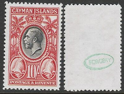Cayman Is (895) 1935 KG5 Conch Shell 10s - a Maryland FORGERY unused